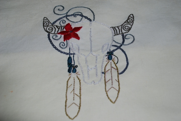 My favorite piece to hand embroider so far, so sad to give up but it was for a friend who watched my dog for 2weeks!
