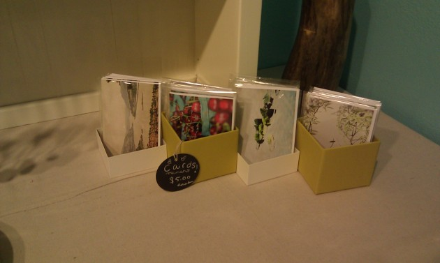 close up of my greeting card selection--browse through there are different ones in the back!